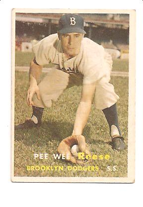 1957 Topps #30 Pee Wee Reese