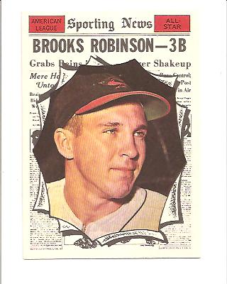 1961 Topps #572 Brooks Robinson AS front image
