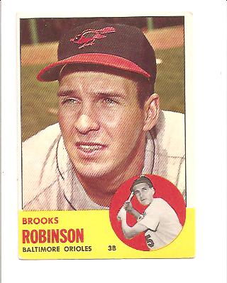 1963 Topps #345 Brooks Robinson