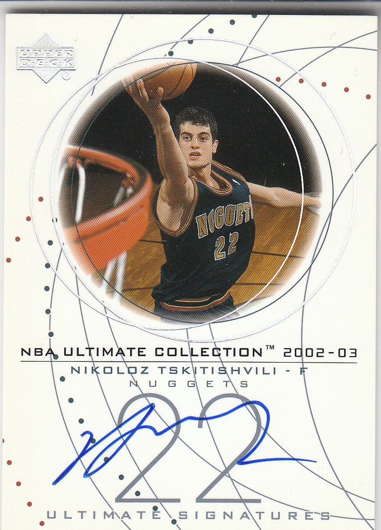 2002-03 Ultimate Collection Signatures #NTS Nikoloz Tskitishvili