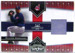 2005 Donruss Champions Impressions Material #149 R.Rod Indians Pants T2
