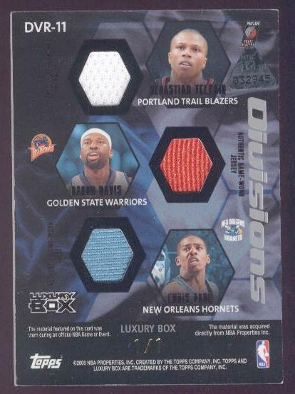 2005-06 Topps Luxury Box Divisions 6 Relics 1 #11 Stephon Marbury/Chauncey Billups/Gilbert Arenas/Sebastien Telfair/Baron Davis