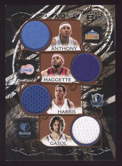 2006-07 Topps Luxury Box Relics Quad Bronze #5 Carmelo Anthony/Corey Maggette/Devin Harris/Pau Gasol