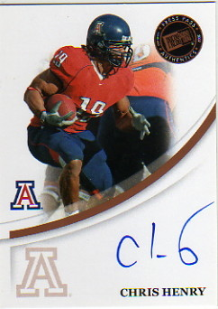 2007 Press Pass Autographs Bronze #24 Chris Henry