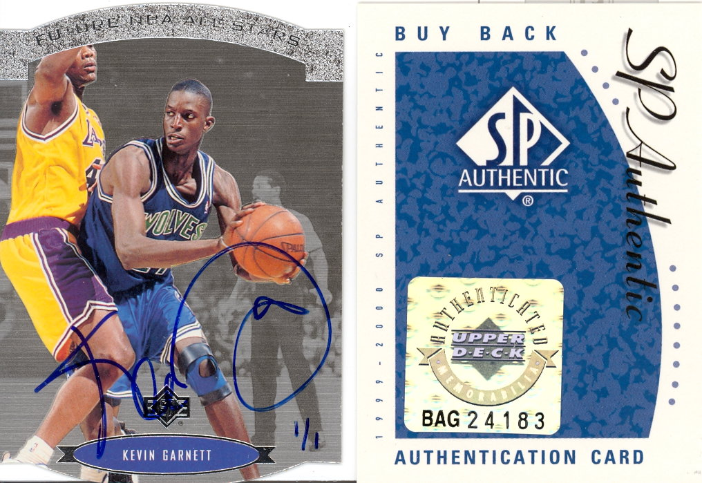 1999-00 SP Authentic BuyBack #10 Kevin Garnett 95-6SPAS/1