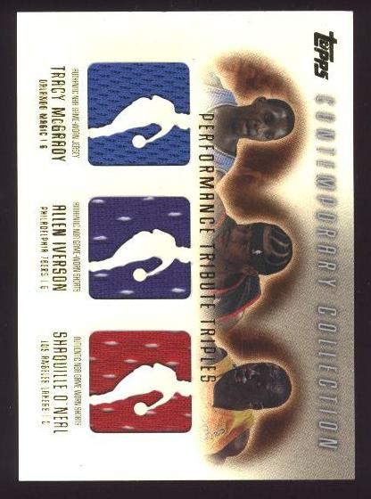 2003-04 Topps Contemporary Collection Performance Tribute Triples #MIS Tracy McGrady/Allen Iverson/Shaquille O'Neal