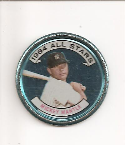 1964 Topps Coins #131A Mickey Mantle AS Right Handed