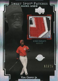 2003 Sweet Spot Patches Game Used 25 #KG3 Ken Griffey Jr.