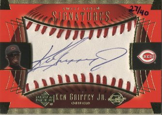 2003 Sweet Spot Signatures Blue Ink #KGJ Ken Griffey Jr.