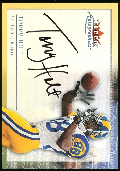 2000 Fleer Tradition Autographics #69 Torry Holt