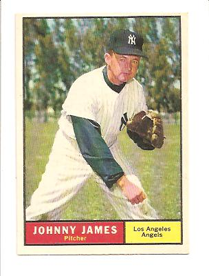 1961 Topps #457 Johnny James/(Listed as Angel,/but wearing Yankee/uniform and cap)