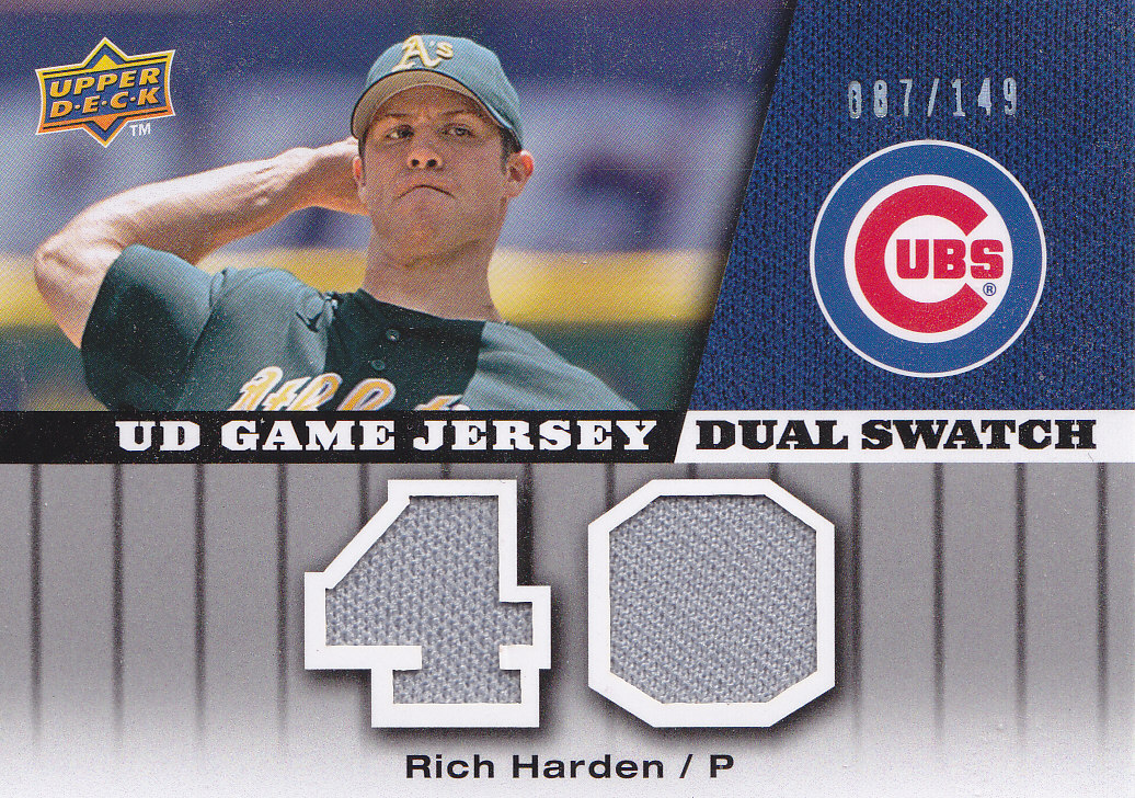 2009 Upper Deck UD Game Jersey Dual #GJRH Rich Harden/149