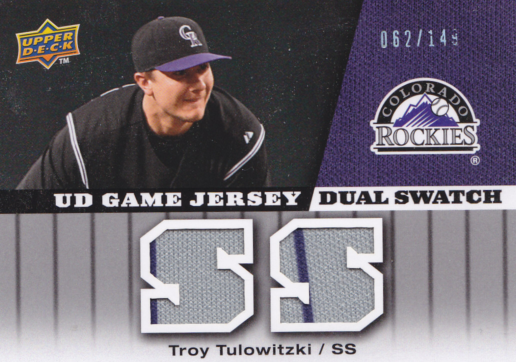 2009 Upper Deck UD Game Jersey Dual #GJTT Troy Tulowitzki/149
