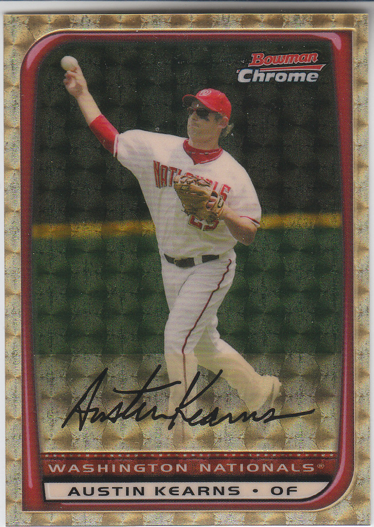 2008 Bowman Chrome SuperFractors #95 Austin Kearns front image