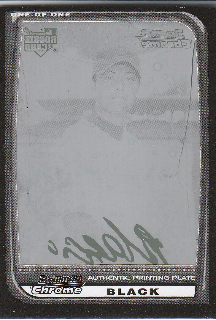 2008 Bowman Chrome Printing Plates Black #219 Masahide Kobayashi
