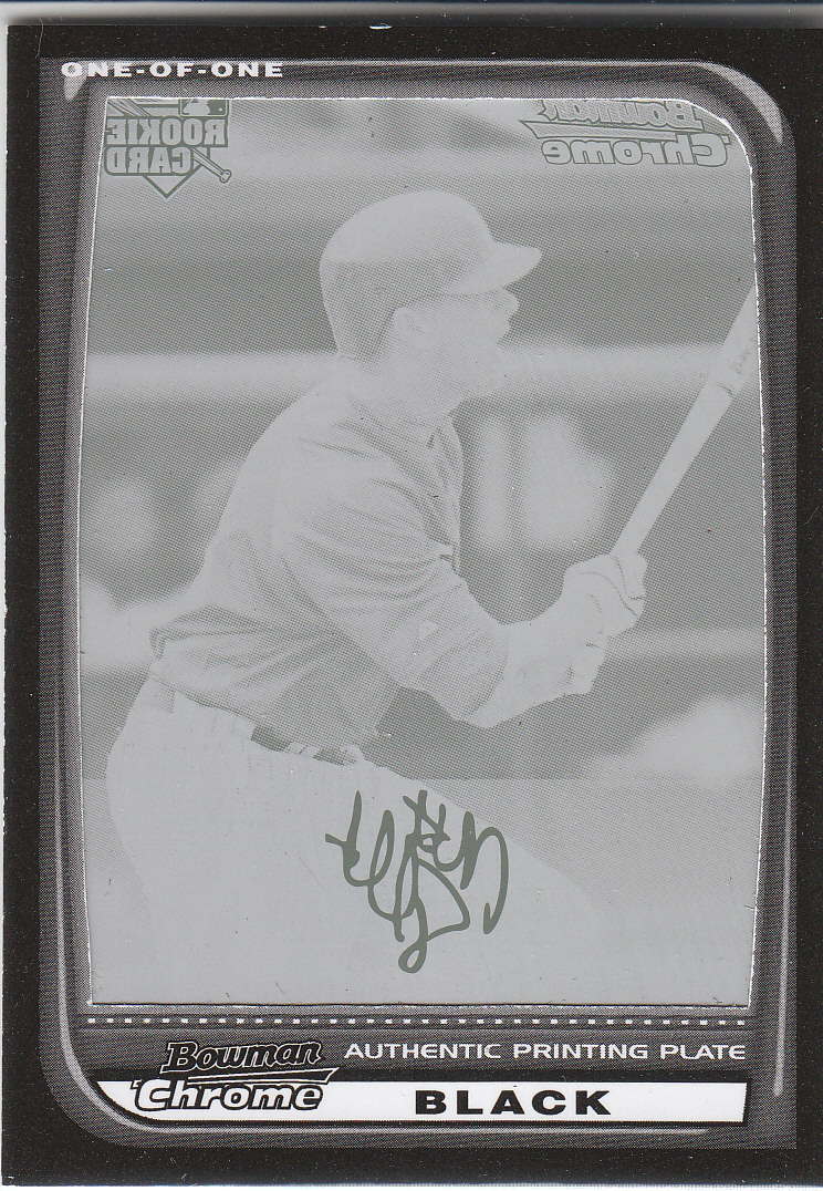 2008 Bowman Chrome Printing Plates Black #218 Matt Tolbert