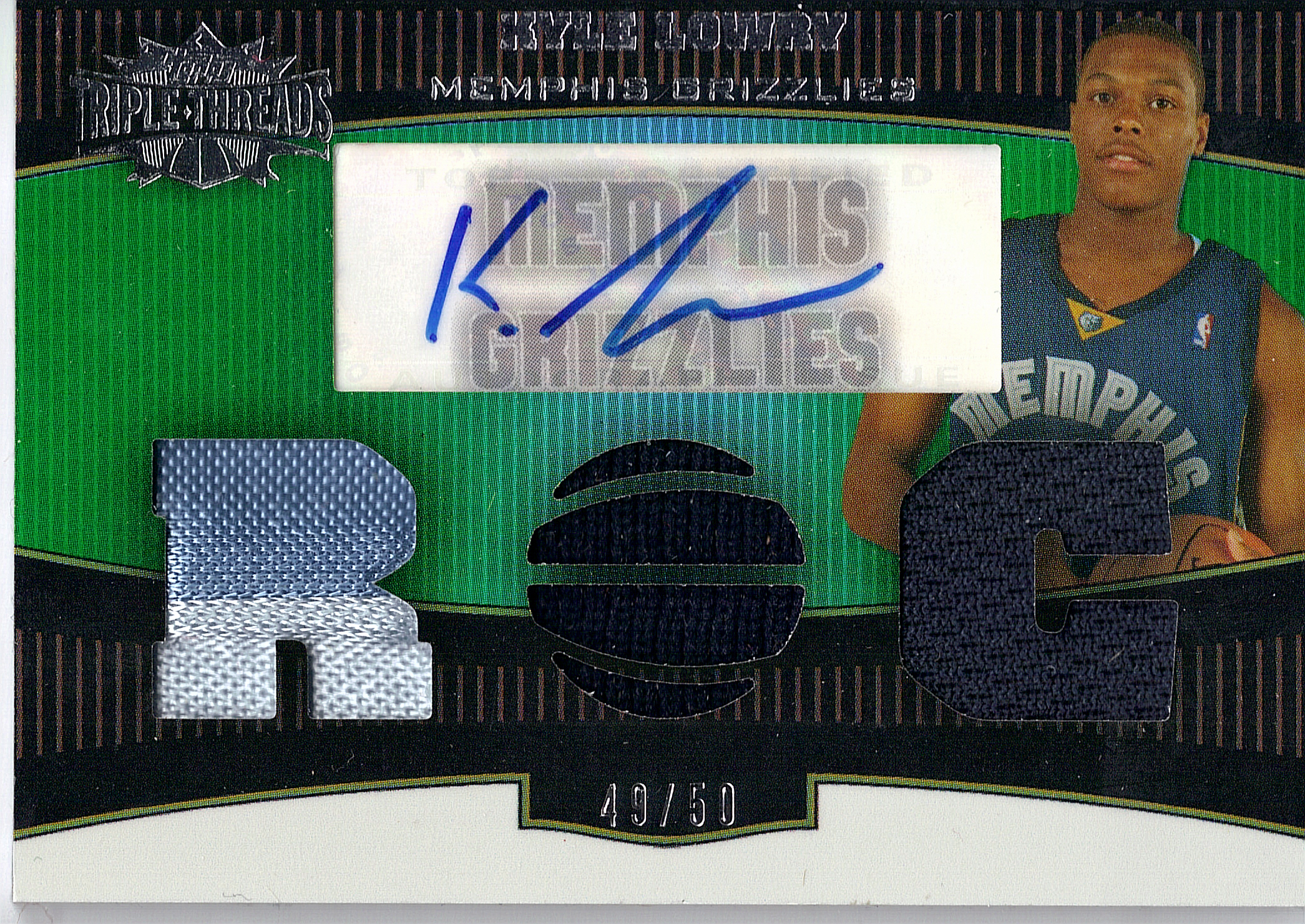 2006-07 Topps Triple Threads Emerald #109 Kyle Lowry JSY AU