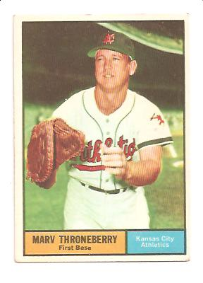 1961 Topps #57 Marv Throneberry
