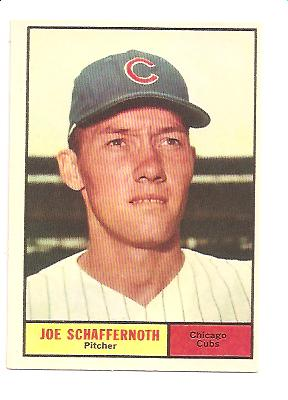 1961 Topps #58 Joe Schaffernoth RC