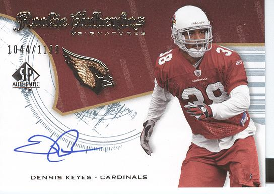 2008 SP Authentic #220 Dennis Keyes AU RC