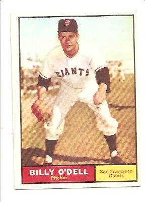 1961 Topps #96 Billy O'Dell