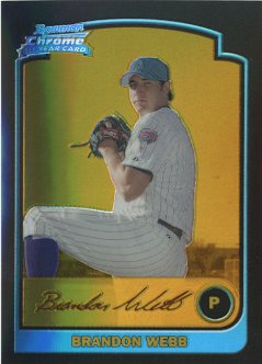 2003 Bowman Chrome Gold Refractors #179 Brandon Webb