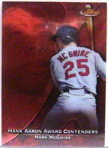 1999 Finest Aaron Award Contenders #HA9 Mark McGwire
