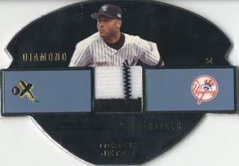 2003 E-X Diamond Essentials Game Jersey 5 #DJ Derek Jeter