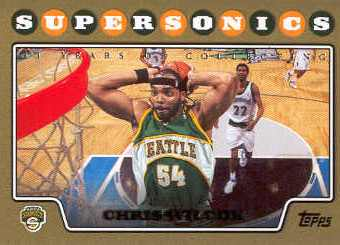 2008-09 Topps Gold Border #108 Chris Wilcox
