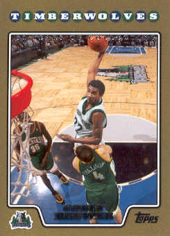 2008-09 Topps Gold Border #129 Corey Brewer