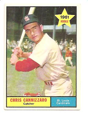 1961 Topps #118 Chris Cannizzaro RC