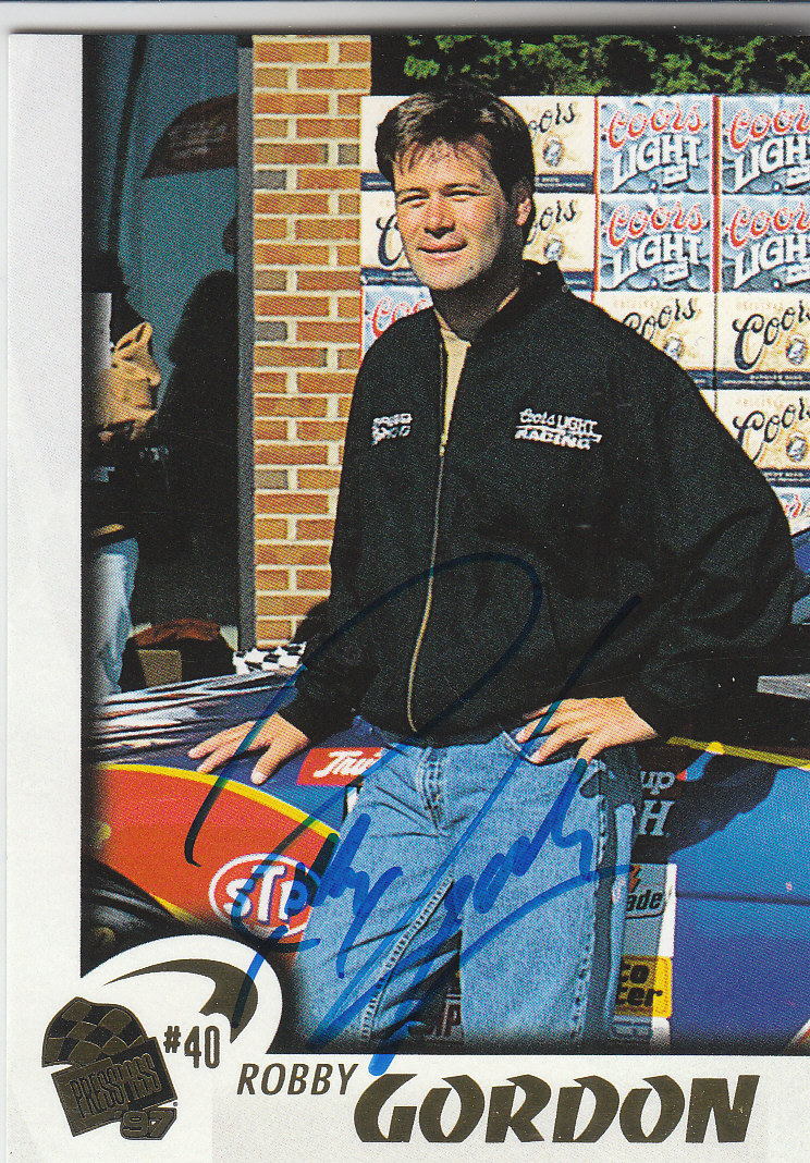 1997 Press Pass Autographs #24 Robby Gordon PPP/VIP