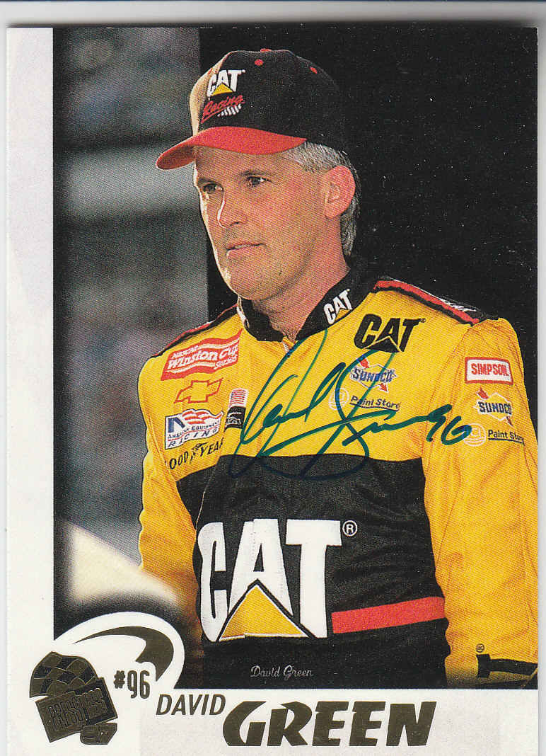 1997 Press Pass Autographs #25 David Green VIP