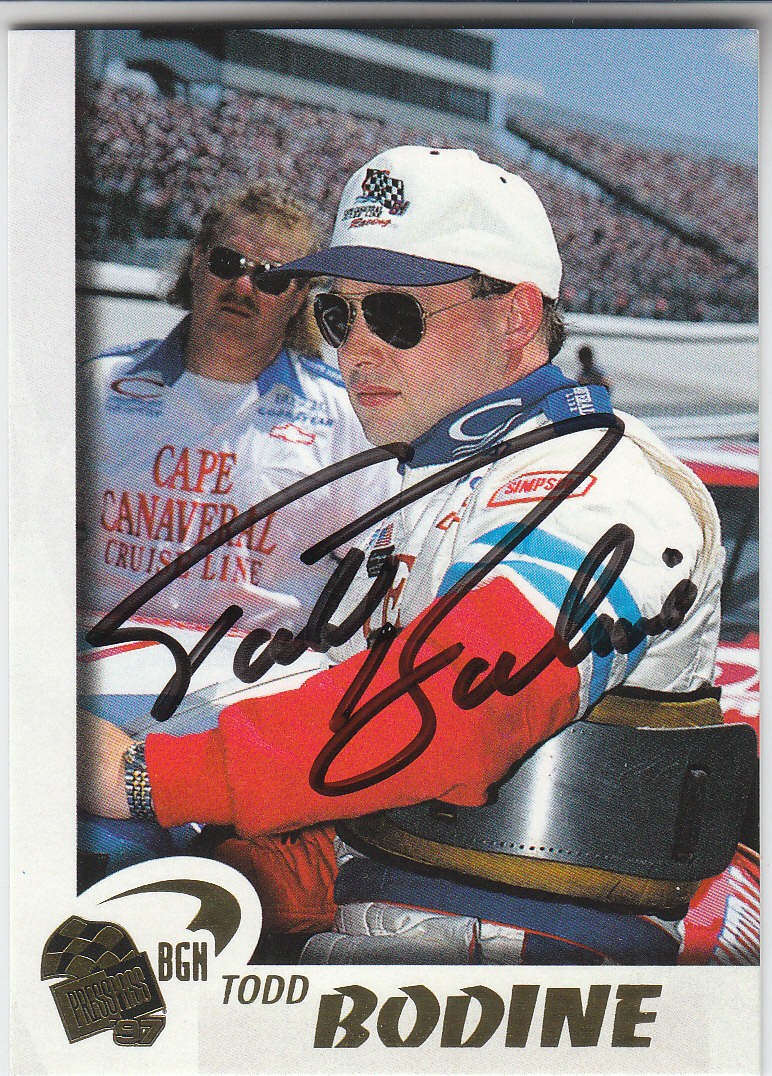 1997 Press Pass Autographs #31 Todd Bodine PPP/VIP