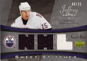 2006-07 Sweet Shot Sweet Stitches Triples #SSJL Joffrey Lupul
