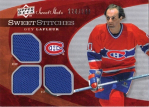 2007-08 Sweet Shot Sweet Stitches Triples #SSTGL Guy Lafleur