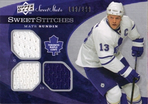 2007-08 Sweet Shot Sweet Stitches Triples #SSTSU Mats Sundin