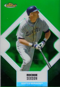2006 Finest Refractors Green #33 Richie Sexson