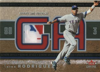 2003 Fleer Genuine Article Insider Game Jersey Tag #AR Alex Rodriguez
