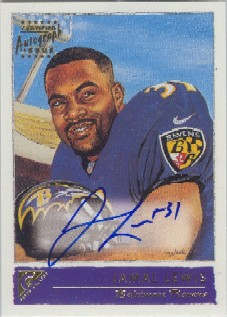 2001 Topps Gallery Autographs #JL Jamal Lewis B