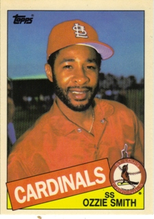 1985 Topps Tiffany #605 Ozzie Smith