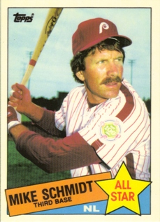 1985 Topps Tiffany #714 Mike Schmidt AS