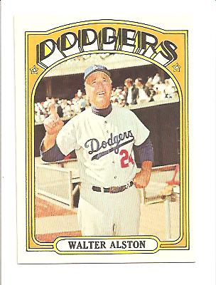 1972 Topps #749 Walt Alston MG
