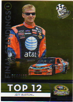 2009 Press Pass Final Standings #113 Jeff Burton/125