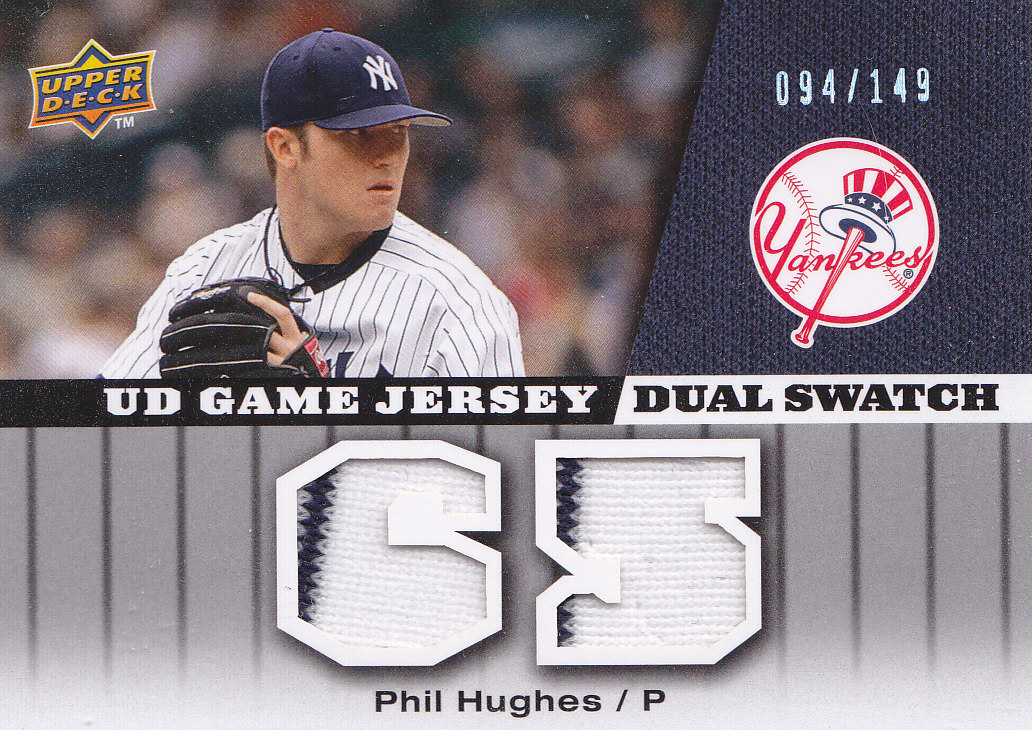 2009 Upper Deck UD Game Jersey Dual #GJPH Phil Hughes/149