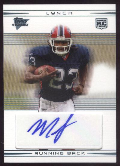 2007 Topps Performance Rookie Autographs #110 Marshawn Lynch C