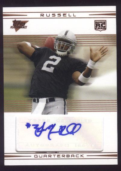 2007 Topps Performance Rookie Autographs Bronze #103 JaMarcus Russell/15