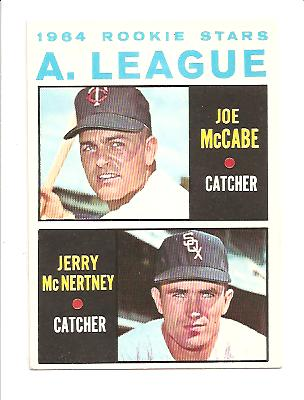 1964 Topps #564 Rookie Stars/Joe McCabe RC/Jerry McNertney RC