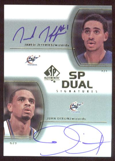 2002-03 SP Authentic SP Dual Signatures #JJJD Juan Dixon/Jared Jeffries