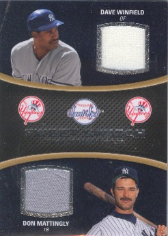 2008 Sweet Spot Swatches Dual #DMW Dave Winfield/Don Mattingly